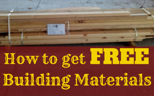 How to get free materials for building projects
