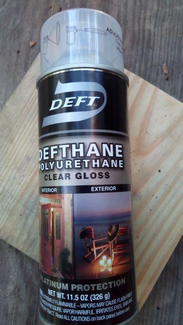 Deft brand spray polyurethane