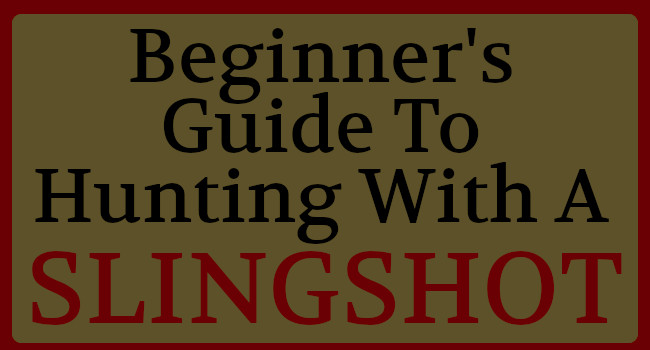 The Beginner's Guide To Hunting With A Slingshot