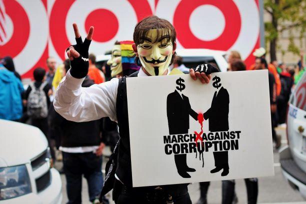 government corruption protester