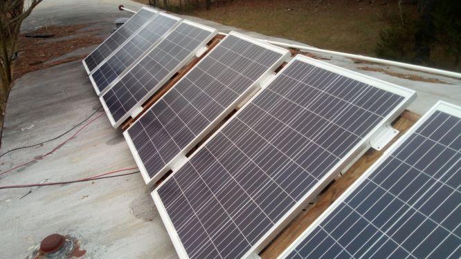 600 watt solar panel array  homemade on the cheap. The inexpensive way to do solar